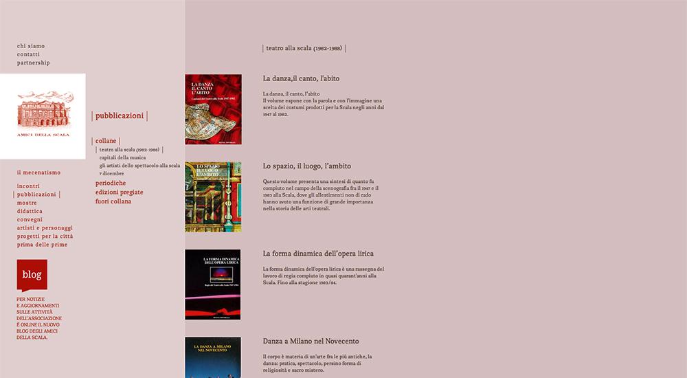 Amici della Scala Web Site