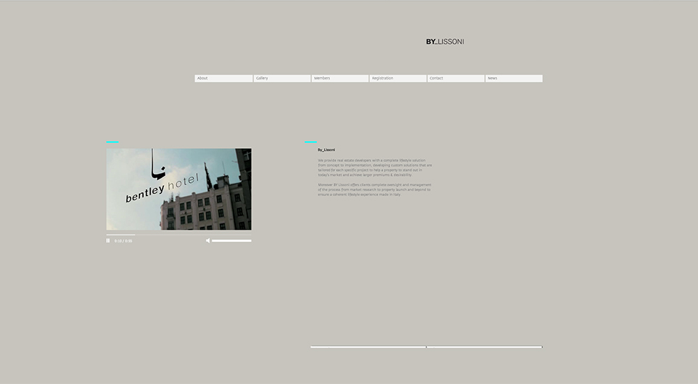 ByLissoni Web Site