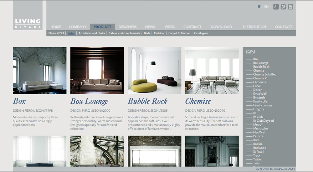 LivingDivani Site