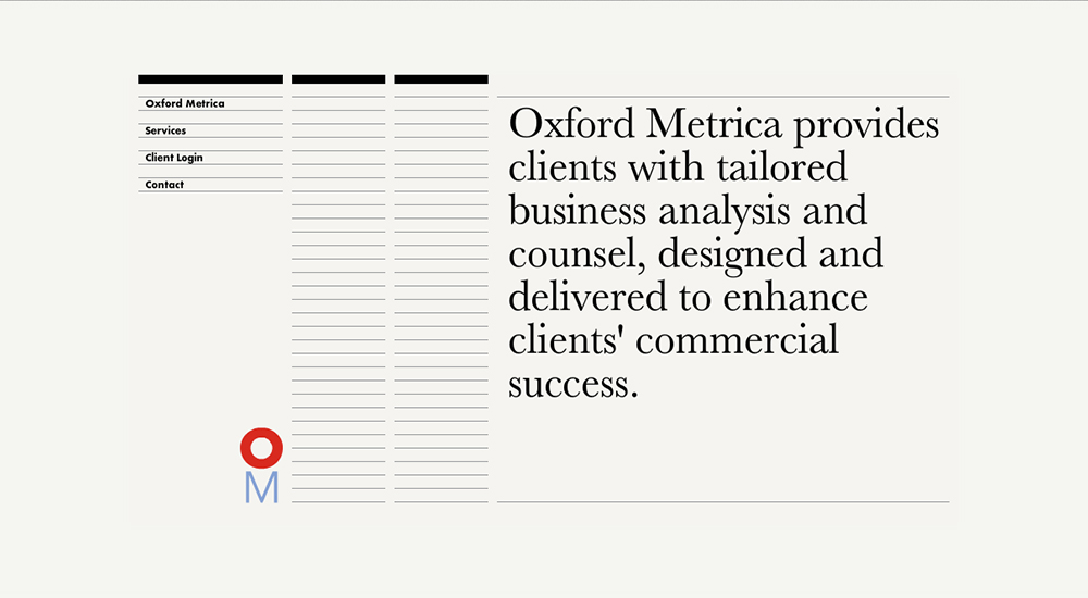 Oxford Metrica Web Site