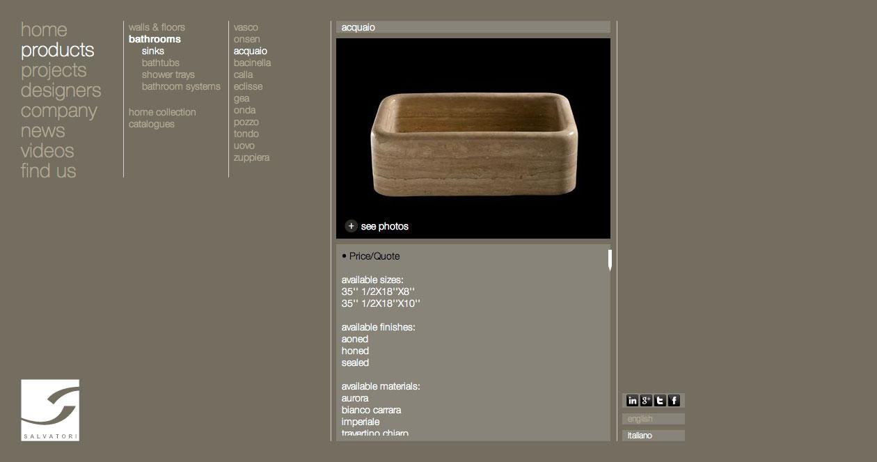 Salvatori Web Site