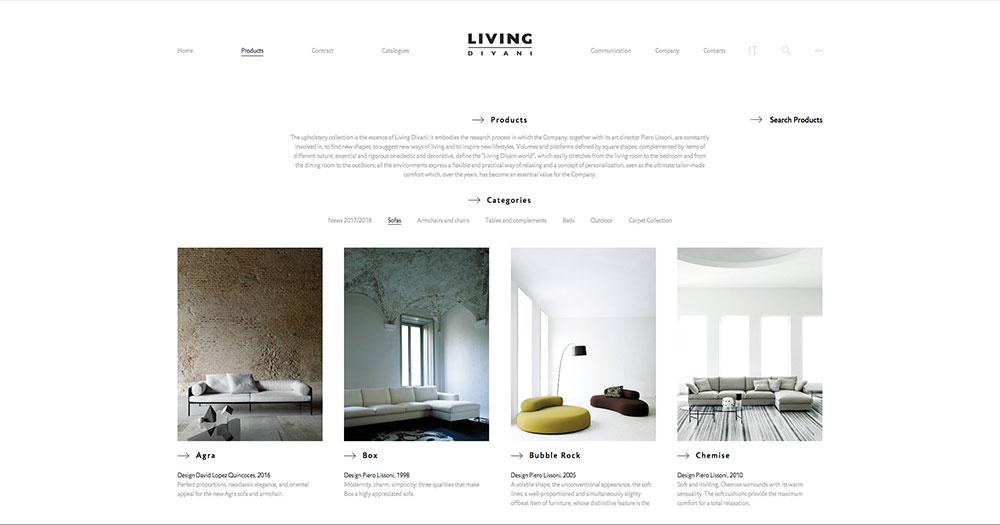 Living Divani Web Site